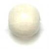 Wooden Bead Round 6mm White